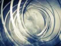 Bakgrund för spiral 3d för monokrom abstrakt Arkivfoton