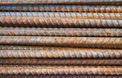 Bakgrund för stålstänger Arkivfoto