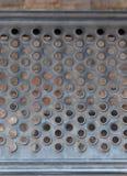 Bakgrund för ståltexturmetall, metallmodell av trappa fotografering för bildbyråer