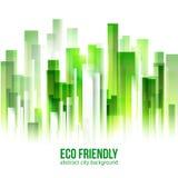 Bakgrund för stad för Eco vänskapsmatchgräsplan Arkivfoto