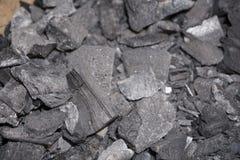 Bakgrund för sten för kub för kolmineralsvart arkivfoto