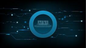 Bakgrund för strömkrets för tech för vektorabstrakt begreppblått framtida Royaltyfria Foton