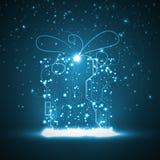 Bakgrund för strömkretsbräde, julgåva Royaltyfri Bild