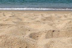 Bakgrund för strand sand Royaltyfri Foto