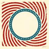 Bakgrund för Swirly band- och stjärnaUSA grunge Arkivbilder