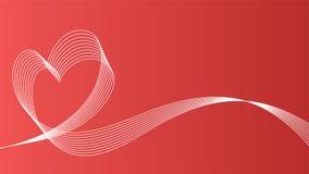 Bakgrund för symbol för hjärtavågvektor Arkivfoto