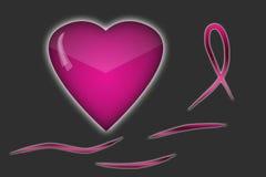 Bakgrund för symboler för bröstcancermedvetenhetmånad Arkivbild