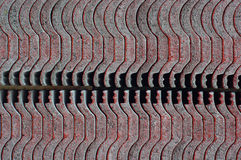 Bakgrund för tak Abtract för röda tegelplattor Arkivbild