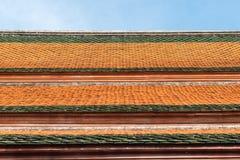 Bakgrund för tak för keramiska tegelplattor Arkivbilder