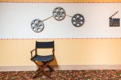 Bakgrund för tappningfilmsymboler Arkivfoton