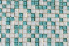 Bakgrund för tegelplatta för blå och vit fyrkant för ljus - Royaltyfria Foton