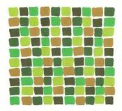 Bakgrund för tegelplatta för mosaik för utdragen markör för hand abstrakt grön kaki- vektor illustrationer