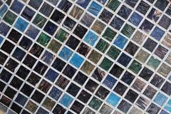 Bakgrund för tegelplattategelstenvägg Arkivfoton