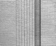 Bakgrund för tegelstenvägg i svartvitt skott Arkivbild