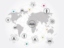 Bakgrund för teknologi för anslutning för globalt nätverk Royaltyfri Foto