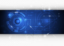 Bakgrund för teknologi för abstrakt begrepp för blått för vektorillustrationhigh tech