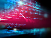 Bakgrund för teknologi för abstrakt begrepp för Digital kodnummer Arkivfoto
