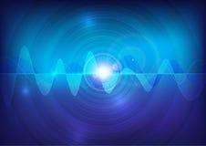 Bakgrund för teknologi för abstrakt begrepp för vågljudpuls Arkivbild