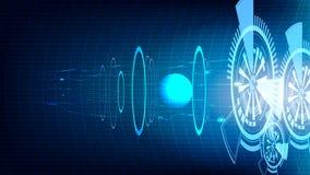 Bakgrund för teknologi för utrymme för vektorabstrakt begreppblått Royaltyfria Foton