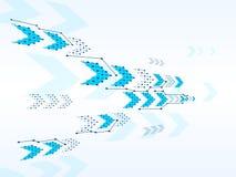Bakgrund för teknologi för vektordesignnätverk Arkivfoton
