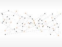 Bakgrund för teknologi för vektordesignnätverk medicinsk Arkivbilder