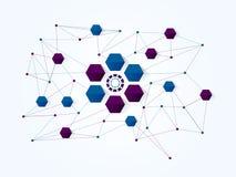 Bakgrund för teknologi för vektordesignnätverk medicinsk Royaltyfria Bilder