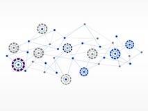 Bakgrund för teknologi för vektordesignnätverk medicinsk Arkivbild