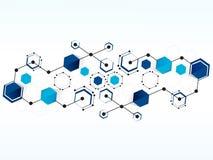 Bakgrund för teknologi för vektordesignnätverk medicinsk Royaltyfri Foto