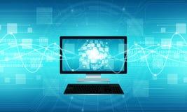 Bakgrund för teknologikommunikationsinternetuppkoppling royaltyfria foton