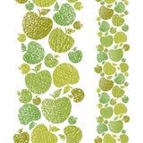 Bakgrund för tema för organisk mat sömlös, sömlös modell för äpplen, royaltyfri illustrationer
