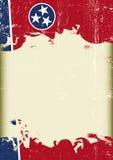 Bakgrund för Tennesse flaggagrunge Arkivfoto