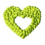 Bakgrund för tennisbollram Royaltyfria Foton