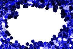 Bakgrund för text med blått blänker makro royaltyfria foton
