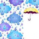 Bakgrund för text med ett gult paraply Arkivbilder