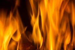 Bakgrund för textur för eldsvådabrandflamma Arkivfoto