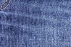 Bakgrund för textur för grov bomullstvilljeanstyg med sömmen för design Royaltyfria Bilder