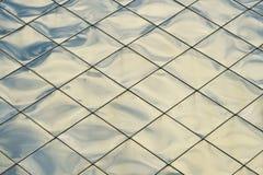 Bakgrund för textur för paneler för silverblåttmetall Royaltyfri Fotografi