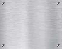 Bakgrund för textur för stålmetallplatta Arkivfoton