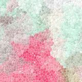 Bakgrund för textur för tegelplattor för mosaik för naturmarmor plast- stenig med vit grout - ljus - rosa färg-, mintkaramellgräs Royaltyfri Bild