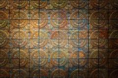 Bakgrund för textur för terrakottategelstenvägg royaltyfria bilder