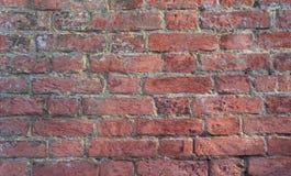 Bakgrund för textur för vägg för röd tegelsten Arkivfoto