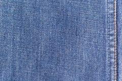 Bakgrund för textur för grov bomullstvilljeanstyg med sömmen för att bekläda, modedesign och industriellt konstruktionsbegrepp royaltyfria bilder