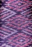 Bakgrund för textur för modell för rät maska för siden- tyg för siden- modell thailändsk sömlös Royaltyfri Bild