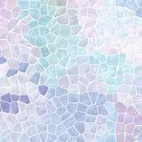 Bakgrund för textur för tegelplattor för mosaik för naturmarmor plast- stenig med vit grout - pastellblått, lilor och violet för  stock illustrationer