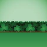 Bakgrund för treklöverväxt av släktet Trifoliumfält Vektor Illustrationer