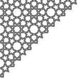 Bakgrund för triangel för Arabesquestjärnavektor vektor illustrationer