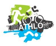 Bakgrund för Triathlonloppsymboler Royaltyfria Foton