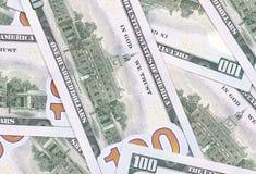 Bakgrund för 100 US dollar abstrakt pengarkassa Arkivbild