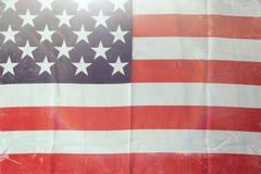 Bakgrund för USA flaggagrunge för 4th av juli beröm Arkivbild