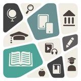 Bakgrund för utbildningstemaabstrakt begrepp stock illustrationer